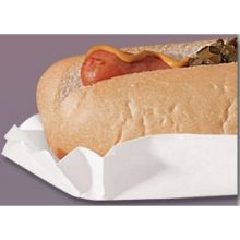 Brooklace Fluted White Heavy Weight Hot Dog Tray