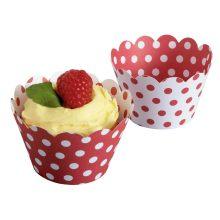 Hoffmaster Polka Dot Cupcake Wrapper