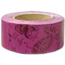 Hoffmaster Specialty Sanitary Burgundy Paisley Wrap N Roll Napkin Band 1.5 x 4.25 inch 20 rolls of each 250 bands