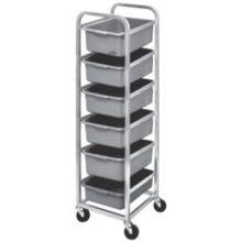 Aluminum 6 Level Shelves Bus Box Cart