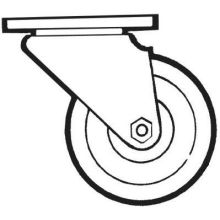High Temp Swivel Plate Replacement Caster for Racks