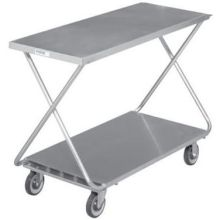 Galvanized Solid Bottom Shelf Marking Stocking Truck