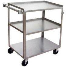 Stainless 3 Shelves Utility Bussing Truck