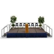 Midwest Black Deck Finish Dual Height Hardboard Deck Portable Stage 4 x 6 feet