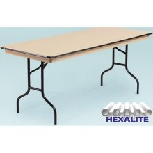 Midwest NLW Series Brown Metal Finish Standard Seminar Table 24 x 72 x 30 inch