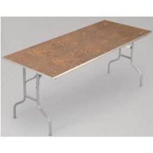 Midwest EV Series Nickel Powdercoat Metal Finish Rectangular Table 36 x 72 x 30 inch