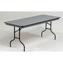 Midwest NLW Series Black Metal Finish Rectangular Table 36 x 96 x 30 inch