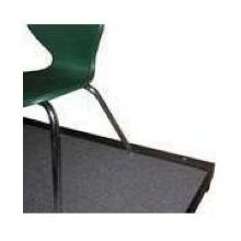 Midwest Black Finish Chair Stop 2 x 3/4 x 44 inch