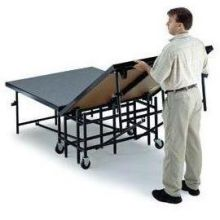 Midwest Black Metal Finish Polypropylene Deck Mobile Stage 4 x 8 feet - MS16P