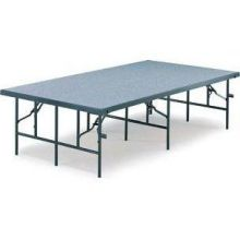 Midwest Black Metal Finish Hardboard Deck Mobile Stage 4 x 8 feet - MS24H