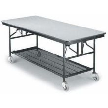 Midwest Standard Paint Finish Mobile Utility Table Black Finish/Molding 30 x 72 x 30 inch