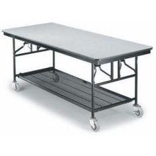 Midwest Standard Paint Finish Mobile Utility Table Black Finish/Molding 30 x 96 x 30 inch MU308EFBB