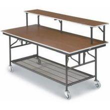 Midwest Standard Paint Finish Mobile Utility Table Black Finish/Molding 30 x 96 x 30 inch MU308EBB