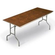 Midwest ET Series Nickel Powdercoat Metal Finish Oval Table 36 x 72 x 30 inch