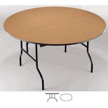 Midwest EF Series Black Metal Finish Oval Table 60 x 72 x 30 inch