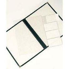Risch Clear Flap Only for Deluxe Sewn Menu Cover 8.5 x 11 inch