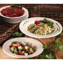 White Wide Rim Pasta Bowl