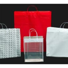 Kal Pac Corporation Plastic Loop Handle Shopping Bag Clear 16 x 6 x 12 x 6 inch