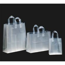 Kal Pac Corporation Flexi Loop Handle Vogue Size Plastic Shopping Bag Frosty Clear 16 x 6 x 12 x 6 inch
