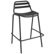 Light Antique Iron Plus Slate Outdoor Indoor Stacking Barstool