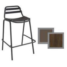 Light Antique Bronze Plus Cedar Outdoor Indoor Stacking Barstool