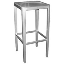 Brushed Aluminum with Clear Lacquer Outdoor Indoor Barstool