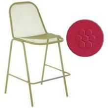 Golf Antique Red Outdoor Indoor Stacking Barstool