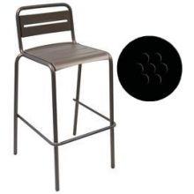Star Antique Black Outdoor Indoor Stacking Barstool