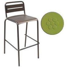 Star Antique Green Outdoor Indoor Stacking Barstool