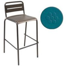 Star Antique Blue Outdoor Indoor Stacking Barstool