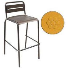 Star Antique Orange Outdoor Indoor Stacking Barstool