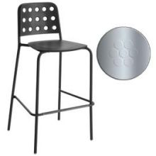 Shot Glossy Aluminum Outdoor Indoor Stacking Barstool