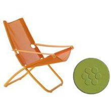 Snooze Antique Green Plus Mint Outdoor Folding Lounge Chair