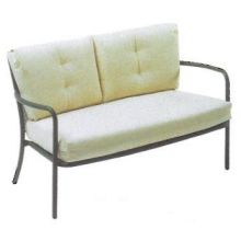 Antique Iron Podio Lounge Loveseat