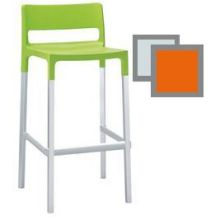Olly Orange Outdoor Stacking Barstool