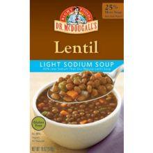 Light Sodium Redy to Serve Lentil Soup