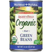 Organic Canned Vegetable Green Beans