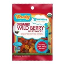 Tasty Brand Organic Wild Berry Fruit Snack