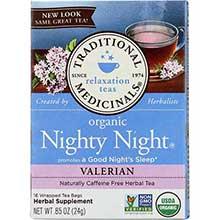 Organic Nighty Night Valerian Herbal Tea Bag