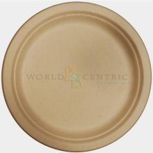 Round Bagasse Unbleached Fiber Plate