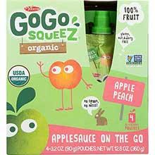 Organic Apple Peach Apple Sauce