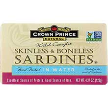 Skinless and Boneless Sardines in Water