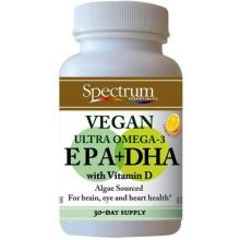 Vegan Ultra Omega 3 EPA and DHA Capsules - 60 Softgel
