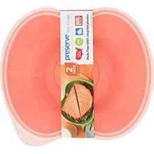 Orange Sandwich Food Storage Container