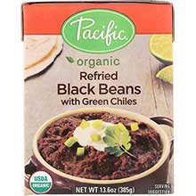 Organic Refried Black Beans with Chiles