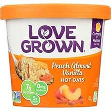 Peach Vanilla Almond Hot Oats