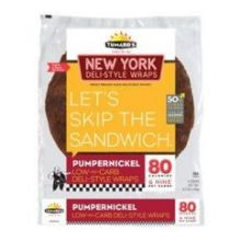 New York Deli Style Pumpernickel Wrap