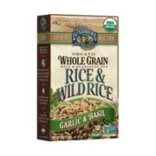Organic Whole Grain Garlic and Basil Rice