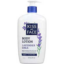 Kiss My Face Natural Lavender and Shea Butter Body Moisturizer 16 Ounce