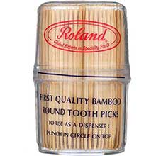 Bamboo Toothpicks in Plastic Canister